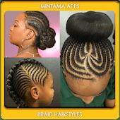 icono peinado de trenza chica negro