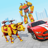 icono Juegos de coches robot de vacas: transformación