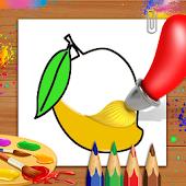 icono libro para colorear y dibujar frutas - niños Juego