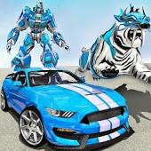 icono Transformación de automóvil de robot de tigre