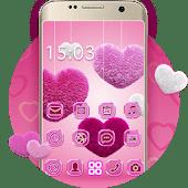 icono Mullido Corazón Rosa Amor Tema