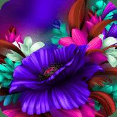 icono Flor azul púrpura Bloom Tema