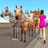 icono taxi a caballo: ciudad y transporte offroad