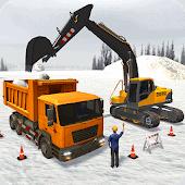 icono Máquina excavadora de nieve - Grúa de construcción
