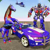 icono Multi Robot Transformación: Caballo salvaje del