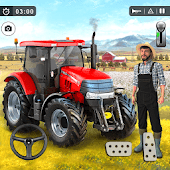 icono juego de agricultura 2021, juego de conducción