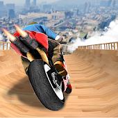 icono imposible rampa moto bicicleta jinete superhéroe