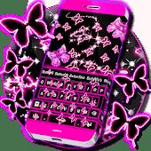 icono Neon Butterflies Keyboard