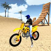 icono Motocross Playa 3D Saltando