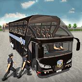 icono Policía autobús conducción 3D