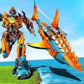 icono Tiburón robot transformando guerras