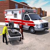 icono Ciudad Ambulancia Emergencia Rescate Simulador