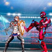 icono Robot Ring Fighting-Superhero Robot VS Real Robot