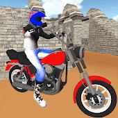 icono Simulador de motocicleta: coche rápido y policía
