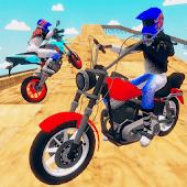 icono motocicleta infinity conducción simulación extrema