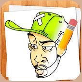 icono Cómo Dibujar Personajes de Graffiti
